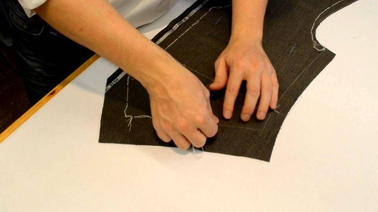 Weste 01, Stiche einschlagen A German Tailor starting with basting the waistcoat