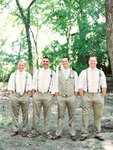 Groom & Groomsmen: Neutral Groomsmen Attire (Photo Captured by Michelle Boyd Photography via Wedding Sparrow UK)