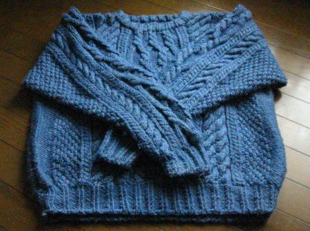 初心者さんかぎ針編み教室*CORON* ゆるゆるに : 棒針編みも楽しいよ ... 夫に編んだ、セーター。