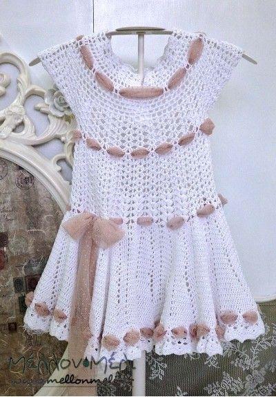"Crochet Χειροποίητο Βαπτιστικό ""Nena"""