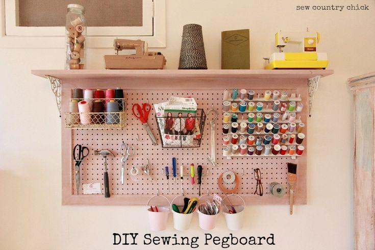 DIY Sewing Room Pegboard