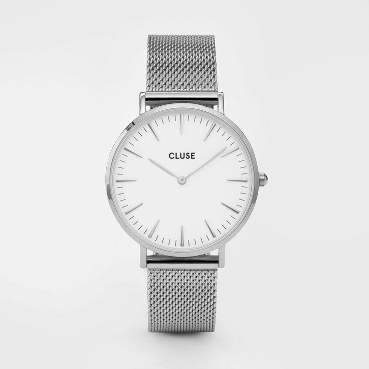 Montre La Bohème Mesh Silver/White - Cluse