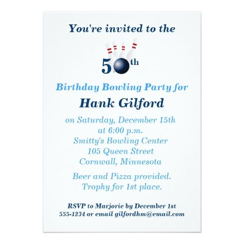 Best 20 Bowling Party Invitations ideas – Party Invitation Email