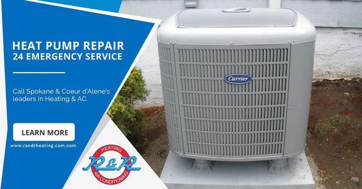 Heat Pump Repair Service. Call R&R Heating & Air Conditioning at 509-484-1405.