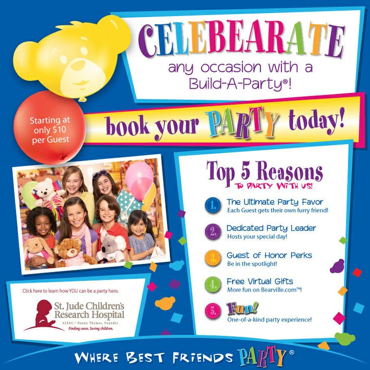 Party With Us! - Build-A-Bear Workshop US