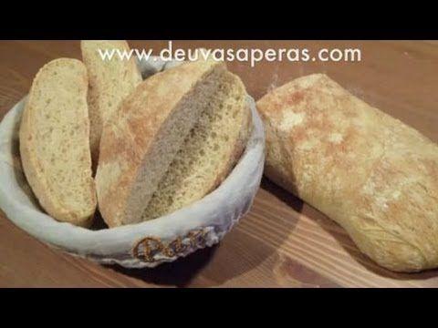 Cómo Hacer Pan de Chapata o Ciabatta - Recetas de Masas
