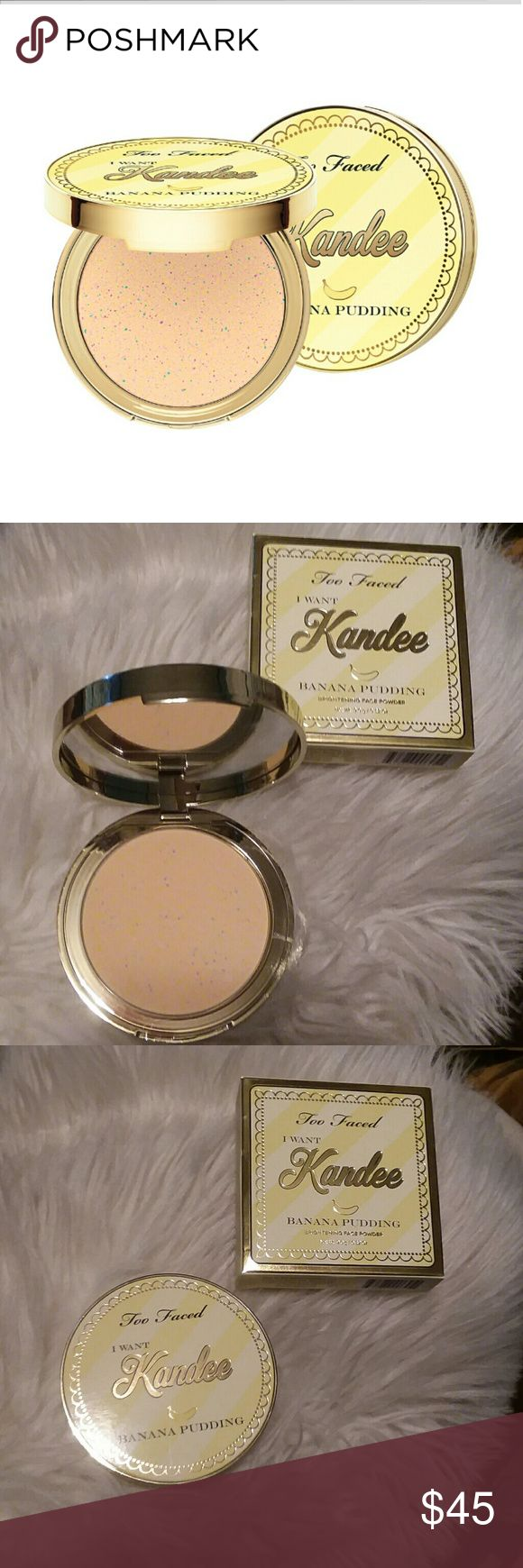 Too Faced Kandee Powder New in box limited edition sold out online Too Faced Makeup