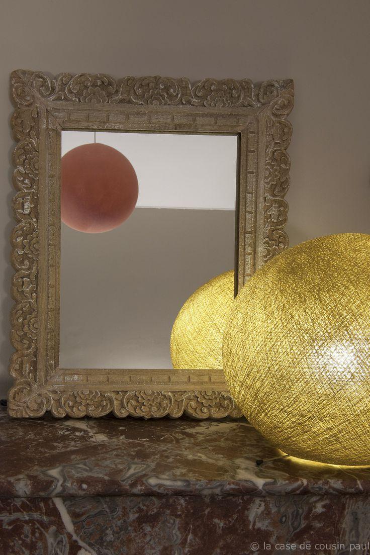 ete boule s or sur pied suspension simple plastique. Black Bedroom Furniture Sets. Home Design Ideas