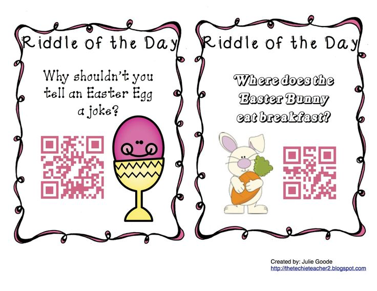 The Techie Teacher: QR Code Spring Riddles of the Day FREEBIE