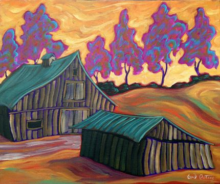 The Old Barn by Fred Peters