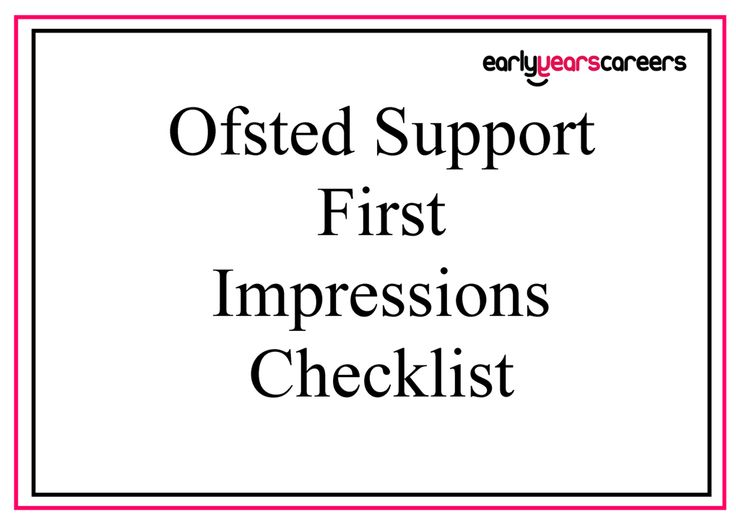 This first impressions checklist tool will support managers by highlighting the evidence that Ofsted will want to see upon an Ofsted inspection.
