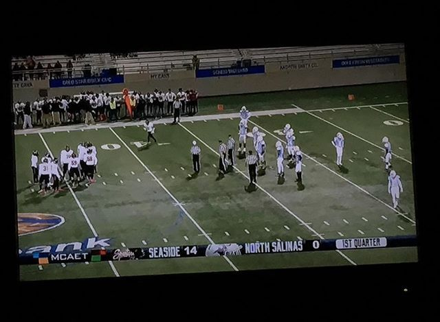 Seaside vs North Salinas - gosh who knew local sports is televised via MCAET. #highschool #football #homebound #homecoming #salinas831 #salinas #moco831 #seaside #montereylocals #salinaslocals- posted by Dex https://www.instagram.com/wineguy5150 - See more of Salinas, CA at http://salinaslocals.com