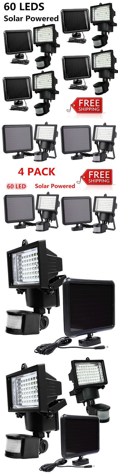 farm and garden: 4 Pack 60 Smd Leds Outdoor Solar Motion Sensor Security Flood Light Spot 80 100 BUY IT NOW ONLY: $63.99