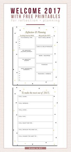 Free New Year's Resolution Printables @DrawntoDIY