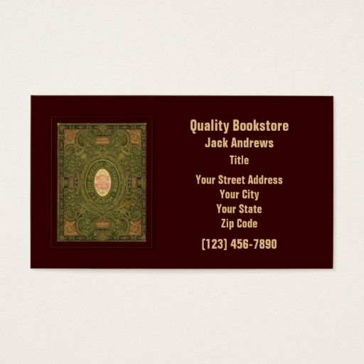 147 best book store business cards images on pinterest business book business card reheart Gallery