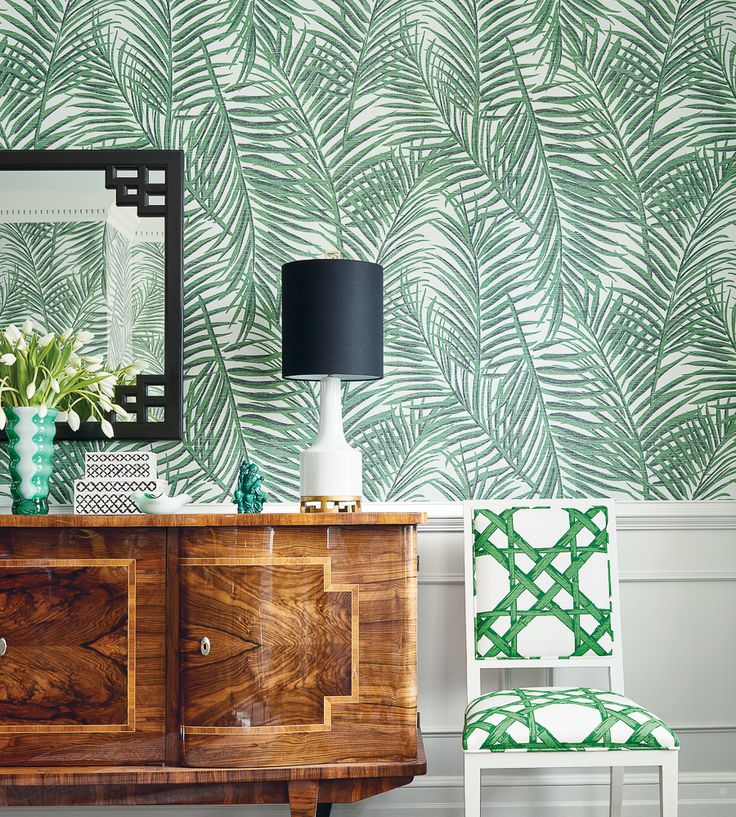 Tropical Interior Trend | West Palm Wallpaper by Thibaut | Jane Clayton