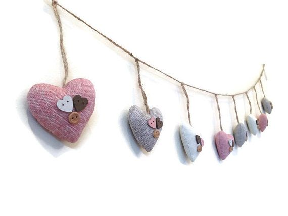 Heart Garland heart bunting mini bunting by CraftCelebration