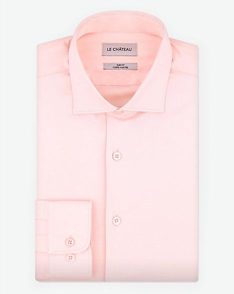 Give his Valentine's Day look a luxe update with this sateen slim fit dress shirt.