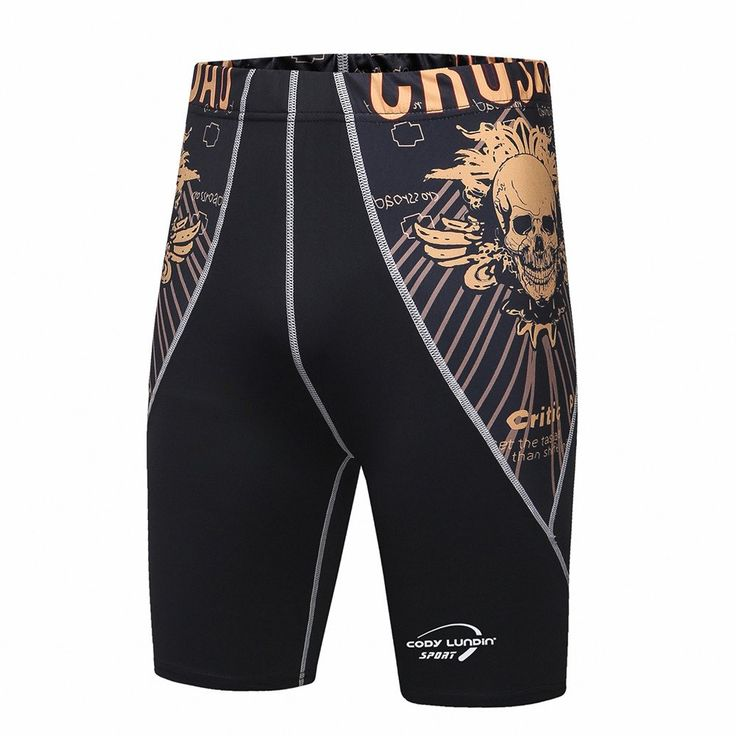 Men's compression shorts, Spandex breathable fast drying, 3D Prints Men Quick Dry Sweat Shorts