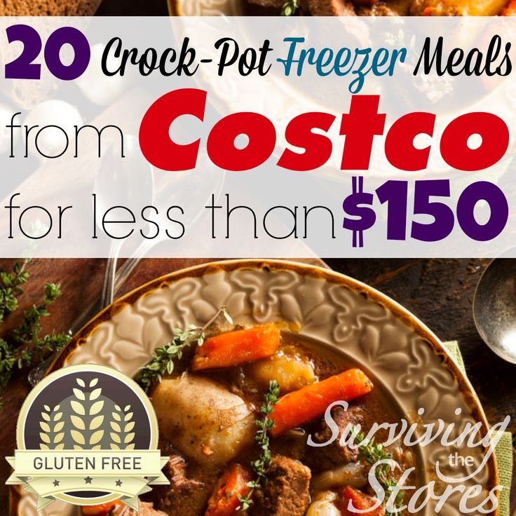Make 20 Gluten-Free Freezer Meals From Costco For Less Than $150!!  But it does cost $5 for a full program