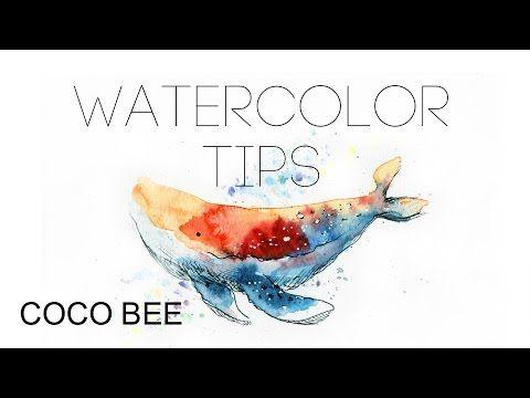 5MIN BEGINNER's Watercolor TIPS x The Wilhelm Scream (James Blake; Kygo Remix) - YouTube