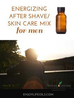 Essential Oils for Men: DIY Aftershave/Oil for Dry Skin. This oil mix is great for dry skin to repair the skin, or used instead of aftershave.