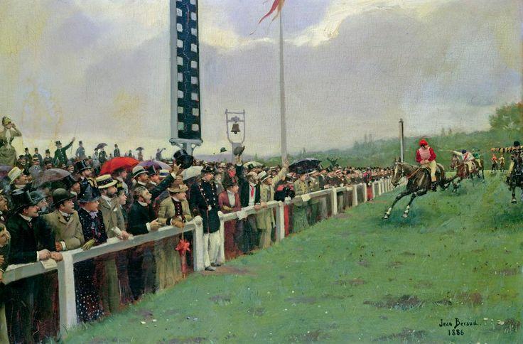 Жан Беро «Беговая дорожка в Лонгчамп»