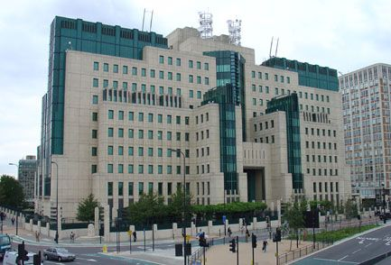 The Secret Intelligence Service (MI-6) building at Vauxhall Cross, London