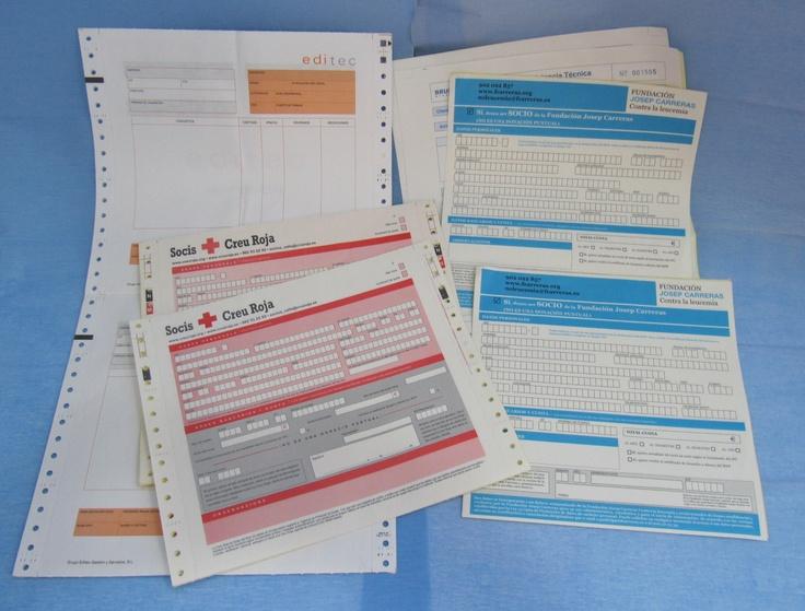 Formularios, talonarios, impresos