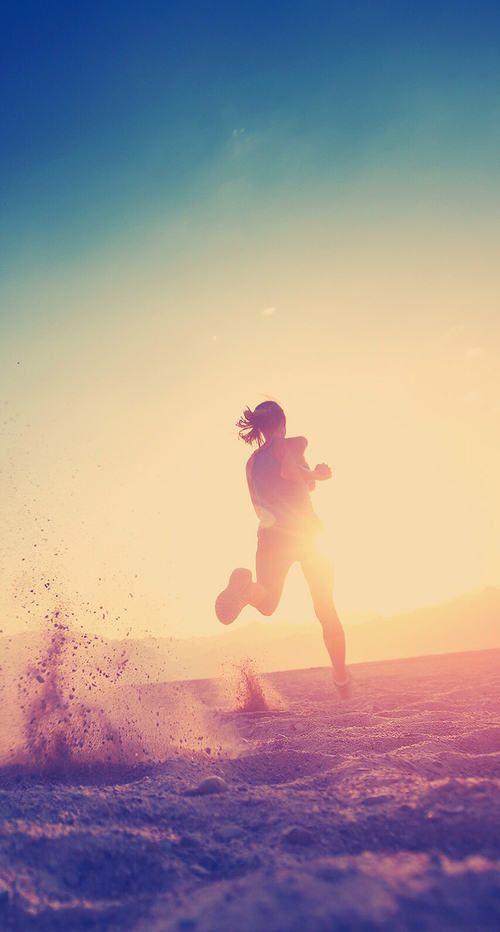 The way I pretend I look when I run on a beach:)