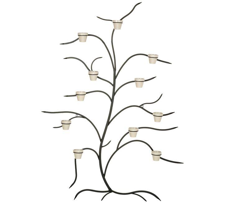 Martha Stewart 71 Metal Tree Wall Decor With Flower Pots