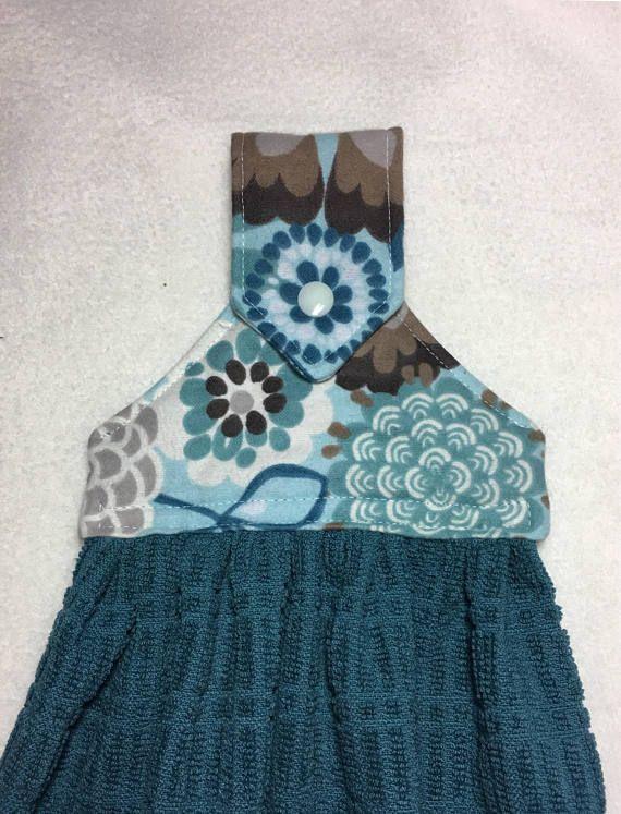 Dark Teal Hanging Snap Kitchen Towels Hanging Kitchen Towels Turquoise Kitchen Kitchen Towels Hanging Decorative Kitchen Towels