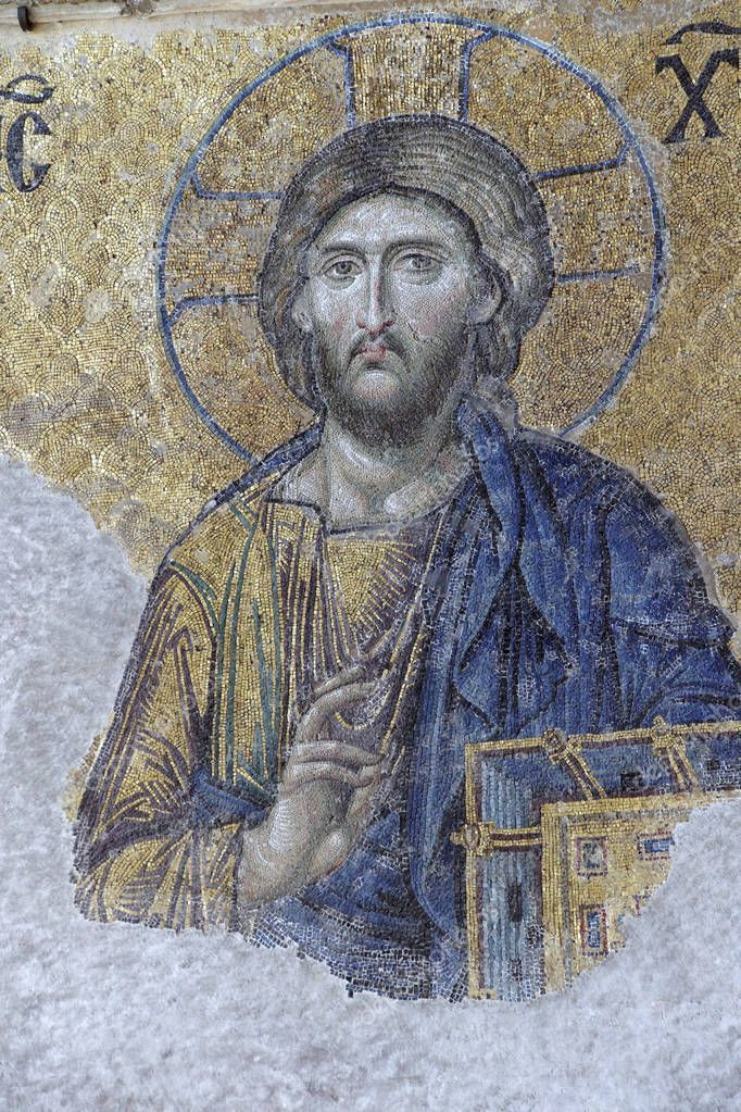 Byzantine Mosaic Of Christ In The Gallery Of Hagia Sophia Stock Photo Sponsored Christ Gallery Byzantine Mos Byzantine Mosaic Byzantine Mosaic Art