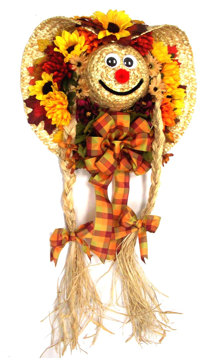 Scarecrow Girl designed by Karen B., A.C. Moore Erie, PA wreath fall
