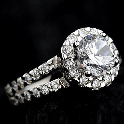 Sterling Silver Channel Set Princess CZ Engagement Wedding Ring