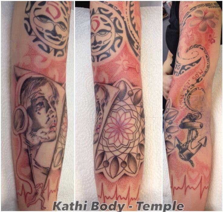 Dot work, trash Tattoo mandala mix Maori