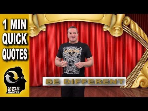 Be Different: 1 Minute Quick Quotes with Wolfgang Riebe - YouTube