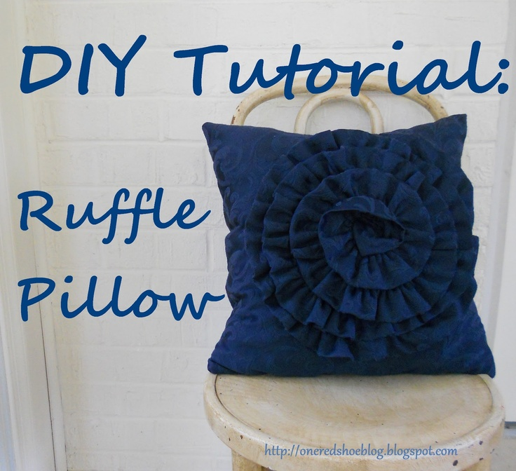 Ruffle Pillow Tutorial Just Need A Yard Of Fabric And