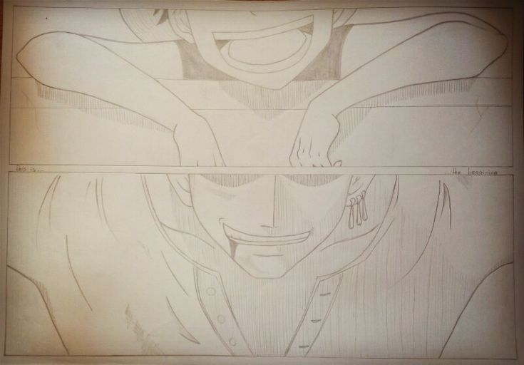 This_is_the_beggining_Luffy_Zoro_One_piece_pencil_xrysa