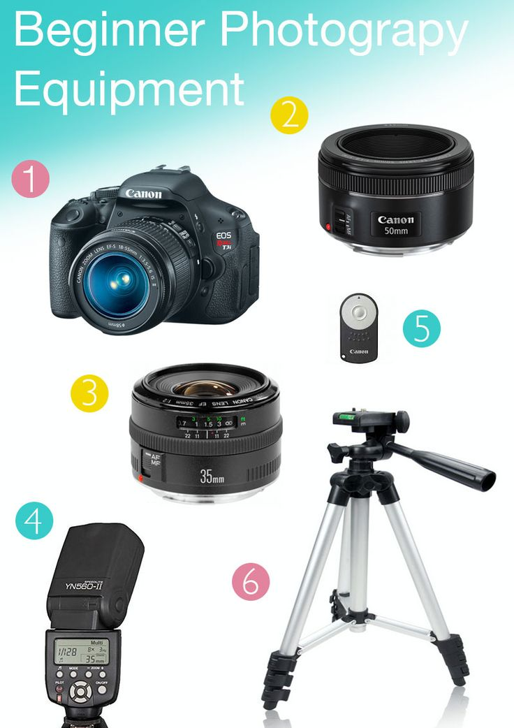 A great list of beginner camera equipment when you first start shooting manual and when you want to take your photos to the next level! - Laughing Latte