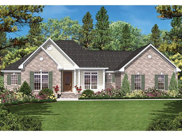Eplans Ranch House Plan Country Ranch With A Lot Of