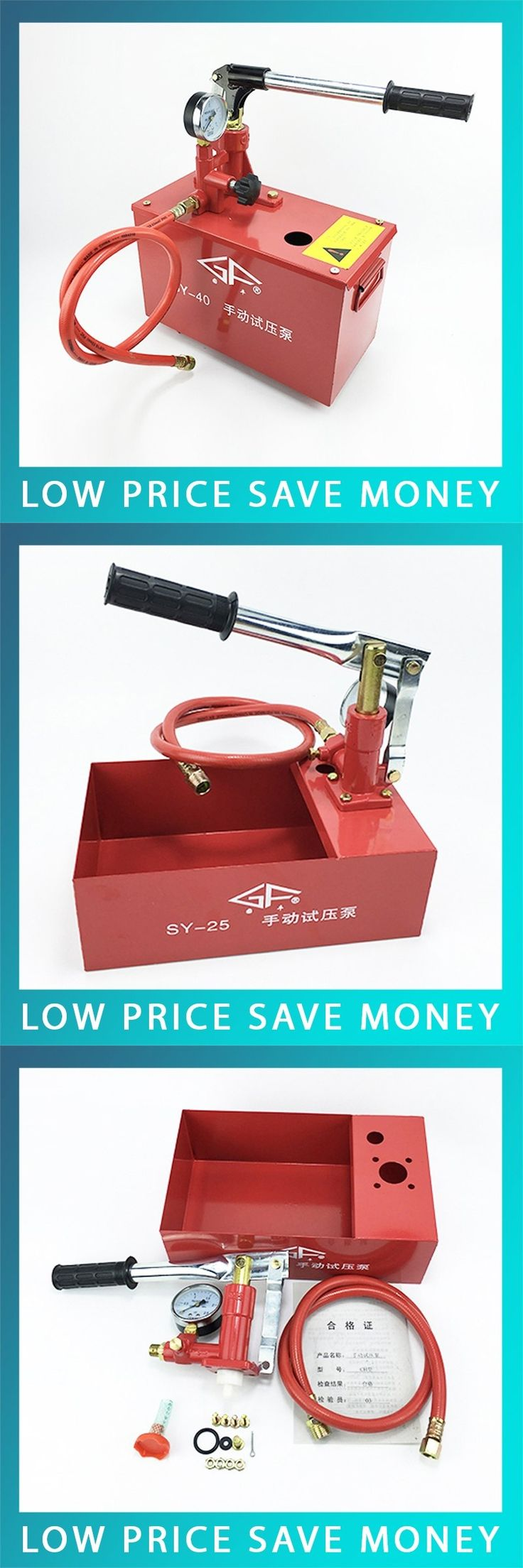 Cast Iron Portable Water pressure Testing Hydraulic Pump Hand tool Manual Pressure Pump Test Pump