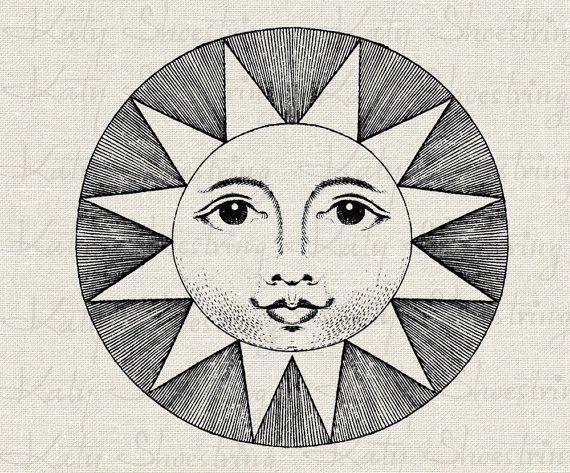 Free Vintage Sun Cliparts, Download Free Clip Art, Free ... |Vintage Sun Illustration