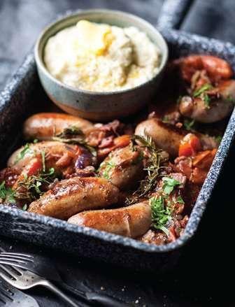 Saucijzen met worst: dat is stevig comfortfood à la De Real Meal Revolutie!