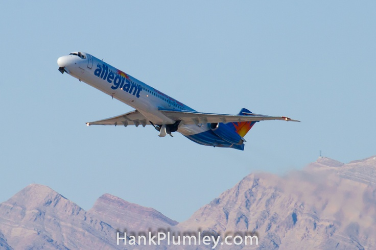 N415NV Allegiant Air, McDonnell Douglas MD-82 departing McCarran International Airport, KLAS June 2011.  #AvGeek #aviation #photos