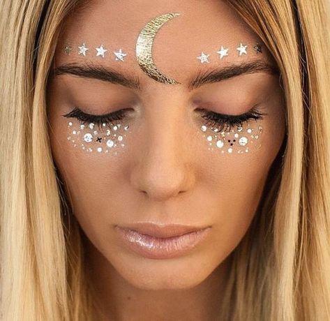 Carnaval, inspiração, maquiagem, fantasia, adereço, makeup, headpiece, inspiration, glitter, estrela, sereia, unicórnio #Costumes