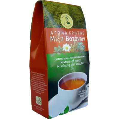 Mixture of Cretan herbs  Is there a more healthy drink from this coexistence of these wondrous herbs ????? So, try it !! one gram in 100 grams of hot water is going to be your best friend !!