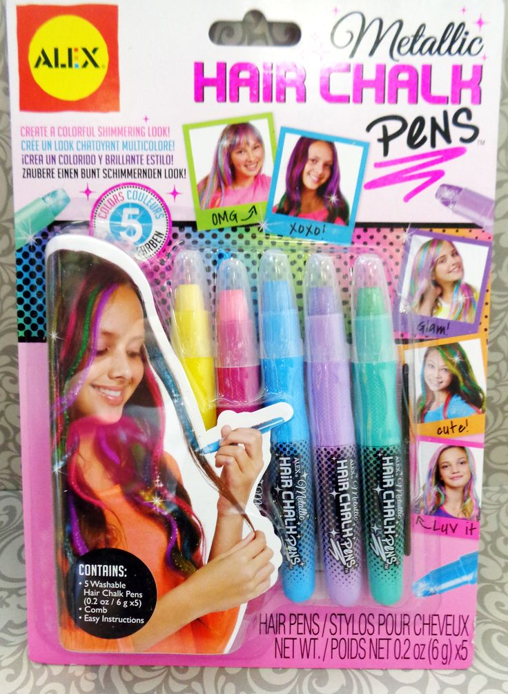 Metallic Hair Chalk Pens by Alex
