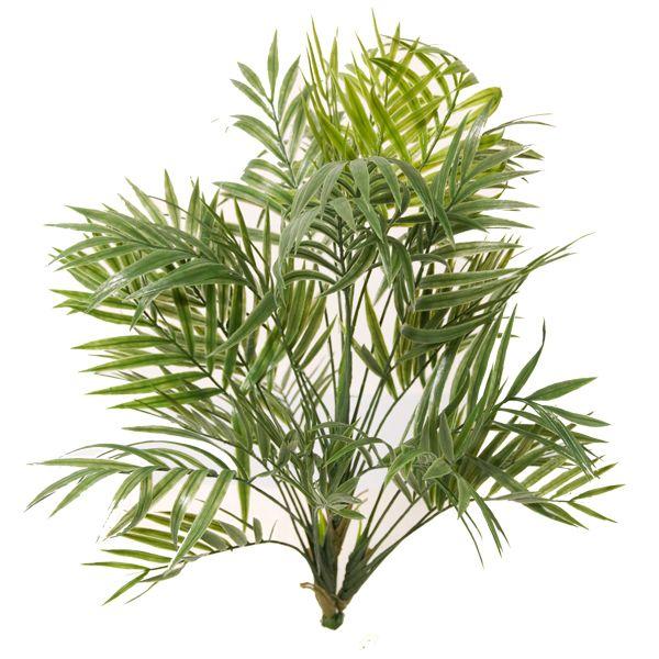 Imitation de petite feuille de palmier, 4 branches, 31 feuilles. Fait de plastique. intérieur et extérieur.
