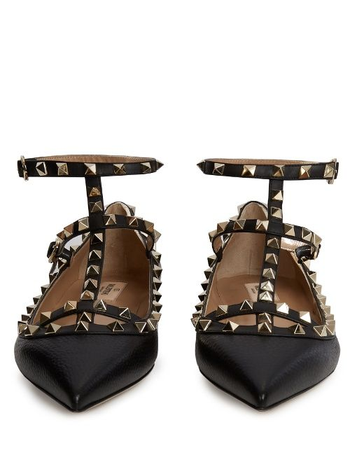 Valentino Rockstud leather flats
